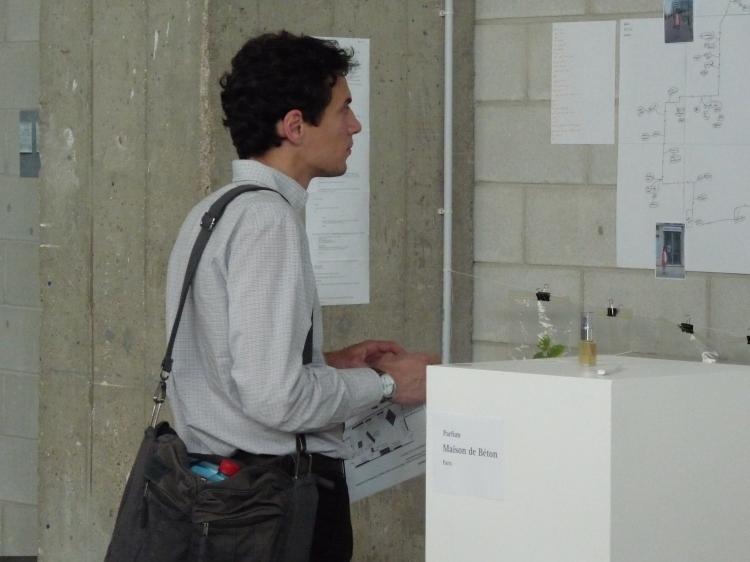 Maison de Beton, exhibition of working process Beton Salon