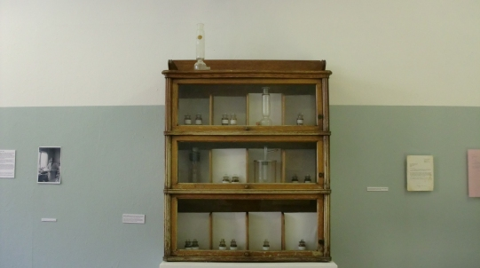 cabinet and wall